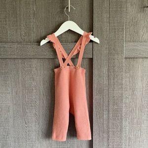 2/$30⭐️Zara ruffle suspender pants